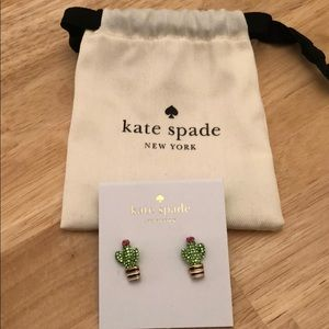 "Kate Spade ""Scenic Route"" Cactus Stud Earrings"